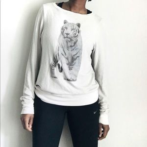 WILDFOX tiger print long sleeve Size XS